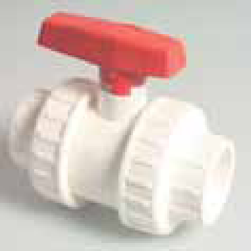 "1.5"" Double Union Ball Valve (White)"